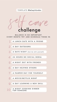 Story Template – Self Care Challenge - template created by sta. Fitness Workouts, Self Care Activities, Self Improvement Tips, Self Care Routine, Instagram Story Template, Care Quotes, Best Self, Self Development, Personal Development