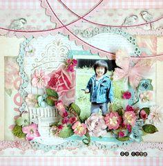 scrapbooking page by Maiko Kosugi