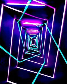 Neon Tunnel by Pako Campo • Art • Design • Dreams