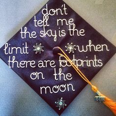 Struggling to figure out how to decorate a graduation cap? Get some inspiration from one of these clever DIY graduation cap ideas in These high school and college graduation cap decorations won't disappoint! Graduation Cap Designs, Graduation Cap Decoration, College Graduation, Graduate School, Graduation Gifts, Graduation Ideas, Senior Quotes High School Graduation, Graduation Cap Pictures, Quotes For Graduation Caps