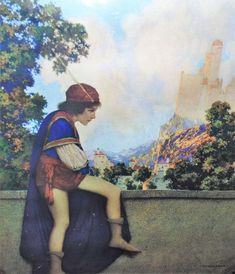 """1925-Vintage Maxfield Parrish """"The Knave Watches Violetta Depart"""" The House of Art NY by SimplyMarvelousMary on Etsy"""