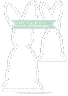 Gratis Schnittmuster Osterhase - Free Sewing Pattern | www.youdid-design.de