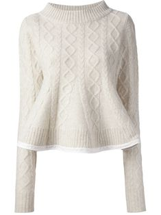 Sacai Cable Knit Sweater - [ hem ]