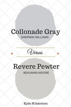 Colour review and comparison between Benjamin Moore Revere Pewter and Collonade Gray by Sherwin Williams vs