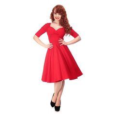 Červené šaty se sukní Collectif Trixie Collectif | Blanka Straka