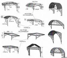 Pergola Attached To House Roof Gate Design, Door Design, House Design, Gazebos, Wrought Iron Decor, Door Canopy, Canopy Design, Iron Furniture, Grill Design
