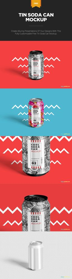 What an exciting can mockup for you to present your creations. #Free #freebie #mockup #PSD #Photoshop #branding #can #sodacan #tincan #aluminiumcan
