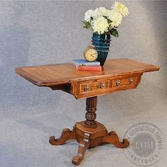 Antique Pembroke Desk Sofa Console Table by SuchGorgeousThings, £750.00