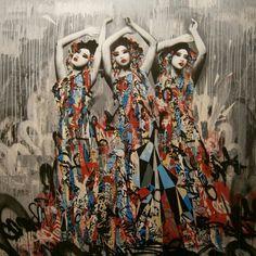 Graffiti Street Art 'Sirens'...  geisha - @colourourcity- #webstagram