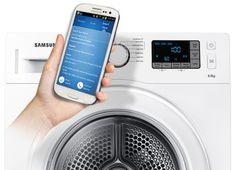 Samsung nevyrába len smartphony, ale prepojiť s nimi dokáže čokoľvek :) Dôkazom toho je aj táto sušička.