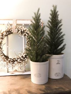 room decor Transition your Christmas decor to winter decor by using evergreen trees in croc. Transition your Christmas decor to winter decor by using evergreen trees in crocks for the winter. A Winter Mantel & Living Room Decor – Valley + Birch Christmas Living Rooms, Christmas Room, Cozy Christmas, Apartment Christmas, Winter Diy, Winter Home Decor, Winter Poster, Deco Table Noel, Seasonal Decor