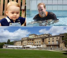 Hrh prince george alexander louis of cambridge on - Is there a swimming pool in buckingham palace ...