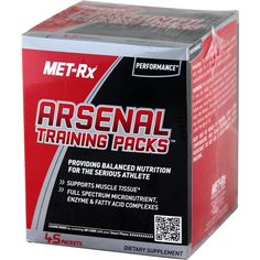 Met-Rx Arsenal Training Pack 45 ct   Regular Price: $44.99, Sale Price: $32.99   OvernightSupplements.com   #onSale #supplements #specials #Met-Rx #DigestiveEnzymes    WITH DIGESTIVE ENZYMES ESSENTIAL FATS AMINOS VITAMINS MINERALSIf you think you can get all the nutrients you need to support a serious bodybuilding or athletic training program in one generic multivitamin think again MET Rx Arsenal Training Packs provide the firepower of essential vitamins minerals essential fa