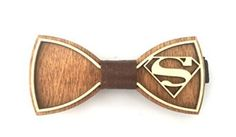 "Amazon.com: Exclusive Wooden Bow Tie ""SUPERMAN"", Handmade: Clothing"