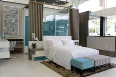 Dormitório aconchegante sempre traz uma boa sensação de paz e conforto!