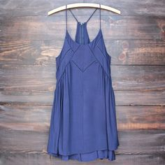 bohemian day dress - navy