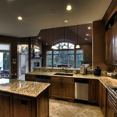 Kitchen Wall Colors With Cherry Cabinets Design, Pictures, Remodel, Decor and Ideas - page 6