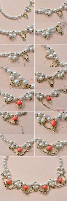 Tutorial on how to make beaded necklace and see more details from LC.Pandahall.com:
