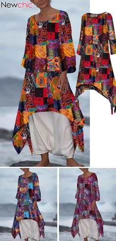 Irregular Hem Plus Size Maxi Dress Dress Outfits, Cool Outfits, Fashion Outfits, Plus Size Maxi Dresses, Plus Size Outfits, Quilted Clothes, Advanced Style, Girls Wear, Hippy