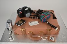 Retirement suitcase cake!