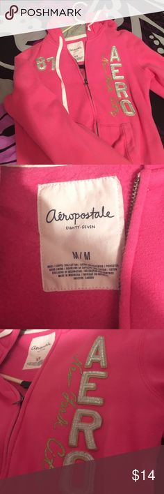 Hoodie zipper aero Pink aeropostale hoddie with zipper this is as well really soft barely worn😁 Aeropostale Sweaters