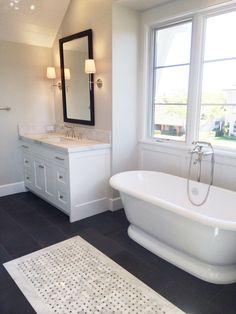 Rejuvenate Your a Bath: master bath in black & white