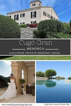 MENORCA - Cugó Gran – Wedding Venue Menorca Spain. A private 'super villa', with all the services of a luxury 5* hotel, on a 250 acre estate with stunning 180° sea views of the Mediterranean.