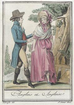 Costumes de Différents Pays, 'Anglais et Anglaise' Jacques Grasset de Saint-Sauveur (France, 1757-1810) Labrousse (France, Bordeaux, active late 18th century) France, circa 1797