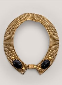 Ela Stone - Front-clasp collar necklace | Metallic Necklace Fashion Jewellery