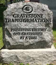 Gravestone Transformations is a historic cemetery conservator and passionate about preserving family history.  That's why we offer a variety of ways to remember and honor family members for generations to come.  gravestone repair, resetting and cleaning