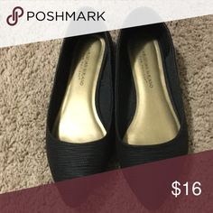 Black Flats Brand new worn once Shoes Flats & Loafers