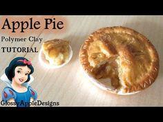 Snow White Inspired Apple Pie - Miniature Polymer Clay TUTORIAL - YouTube
