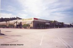 Pre-Target magic and all the original entrances in tact!!!  Montgomery Ward from the Eagle Rock Plaza parking lot. Eagle Rock, CA.