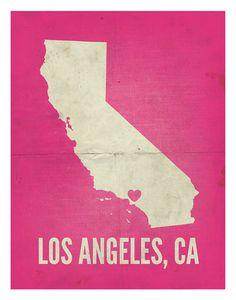 Los Angeles CA Love Print 11 x 14 by AmyRogstad on Etsy