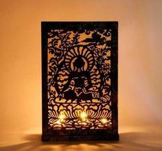 The Yellow Door Buddha Screen Iron Cup Tealight Holder at Offers2Go #TealightHolder #MyHomeDecor #BuddhaScreen #Walldecor
