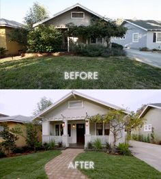 Before And After   Curb Appeal!