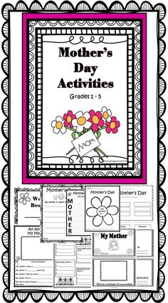 Mother's Day - Printable Activities For The Classroom Celebrating Mother's Day #Mother'sDay     #Writing