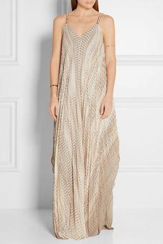 Halston Heritage Verzierte Robe aus plissiertem Chiffon €660