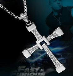 Fast and Furious 6 Dominic Toretto's Cross Necklace Pendant Titanium Steel Necklace Men's Jewelry