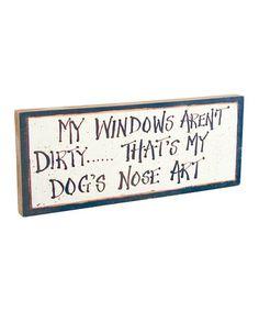 Look at this #zulilyfind! Dog Art Sign #zulilyfinds
