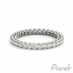 Celebrate and cherish your love with this exquisite diamond eternity wedding band.