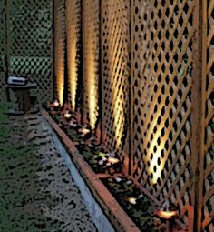 GREAT idea for a privacy fence Privacy Fences, Mother Earth, Pond, Paths, Modern Design, Wordpress, Planters, Home And Garden, Backyard