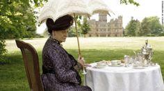 Tea by the castle.