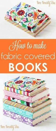 DIY Cloth covered books. (KS)
