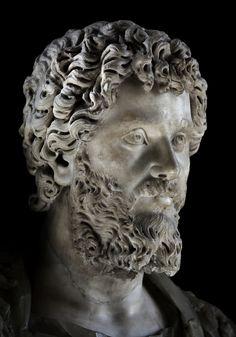 Ancient Rome. Portrait of Septimius Severus