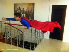 John Barrowman, planking LIKE A BOSS>>why am I not surprised he has a superman costume