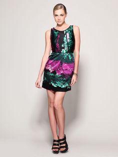 Textured Silk Dress (Laundry by Shelli Segal)