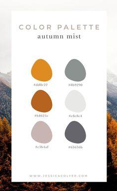 design 4 Cozy Color Palettes for Autumn — Jessica Colyer Fall Color Schemes, Fall Color Palette, Colour Pallette, Website Color Schemes, Color Schemes For Websites, Website Color Palette, Bedroom Colour Palette, Colour Combo, Palette Design