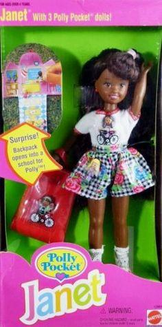 NEW ~ 1995 Barbie Polly Pocket Janet #12984