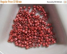 Miyuki size Delica, Cylinder Beads, Duracoat Galvanized Matte Light Cranberry (color A Cranberry Color, Swatch, Lights, Beads, Unique Jewelry, Handmade Gifts, Etsy, Vintage, Products
